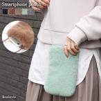 ◆福袋対象◆スマホポーチ ポシェット ミニショルダー バッグ レディース エコファー フェイク iPhone スマートフォン 斜め掛け 小物 小さめ