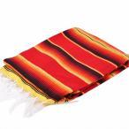 モリーナインディアンブランケット (Molina Indian Blanket) Retro Color Serape Blanket/レトロカラーサラペブランケット[約213×162cm]RED/FIRE