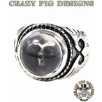 クレイジーピッグ リング 指輪 CRAZYPIG スモールクリスタルスカルリング CRAZY PIG メンズ リング レディース リング