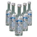 ロシアウオッカ「ホワイトバーチ」ミニボトル50ml 5本セット (ウオッカ:アルコール分 40%)