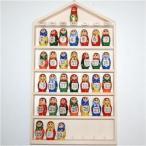 マトリョーシカ木製 組替え壁掛けカレンダー 無料ラッピング
