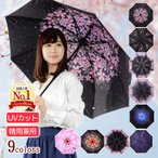 折りたたみ傘 日傘 晴雨兼用 uvカット 遮光 レディース ひんやり 遮熱 雨傘 撥水 花柄 星柄 大きいサイズ 折り畳み ポイント消化 送料無料