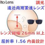 (メガネセット用/2枚1組)(調光遠近両用 累進シニアレンズ)(送料無料)(屈折率1.56 内面設計)ITOLENS FFIQ156PHOTO (エフエフIQ156フォト)