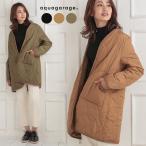 キルティングコート レディース アウター 中綿 ファスナー 大きいサイズ 薄手 軽量 軽い ハーフコート 大きいポケット 暖かい 防寒 羽織り ベーシック 秋冬