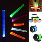 光る ワンタッチ LEDアームライト 反射材 アームバンド 夜間 ランニング リストバンド ウォーキング 02P01Oct16