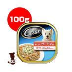 シーザー あじわいサーモン風味 ポテトとにんじん入り 100g マースジャパン ▼a ペット フード 犬 ドッグ トレイ ウェット