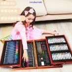 カラー筆ペン174点子供美術用ペンセット36色洗たくでキレイペンセット材 筆ペン収納ケース付き鉛筆絵ハガキ水彩ペンペンセット安全エコ誕生日プレゼント
