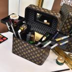 ショッピングジュエリーボックス メイクボックス コスメボックス 鏡付き 持ち運び ネイル プロ 美容 メイク道具 化粧ボックス 大容量 アクセサリー 収納 化粧品 ジュエリーボックス