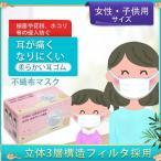 子供用マスク50枚入れ 在庫有り3層型 新型コロナウィルスウイルス小顔の女性花粉対策 飛沫感染不織布PM2.5女性使い捨てにも花粉 防塵ウィルス対策使い捨て