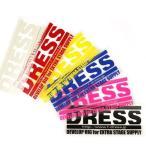 DRESS ドレス ロゴステッカー Sサイズ 120×45mm クーラーボックス 【タックルボックス バス 海 釣り フィッシング 釣具】
