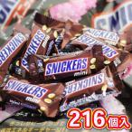 お菓子 詰め合わせ スニッカーズmini 24袋セット 216個入り 受験 合格 入試 受験応援グッズ アウトレット 学校 塾 チョコレート おすすめ 送料無料