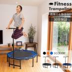 トランポリン フィットネス エクササイズ MRG 静音 家庭用 手すり付き 大型 ゴム式 コンパクト 118cm ワイド 耐荷重 100kg 体幹 ダイエット 運動 プレゼント