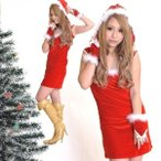 サンタ コスプレ 衣装 レディース 手袋付き 2点セット