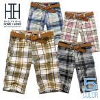 ショートパンツ メンズ チェク柄 カラー配色 カジュアル 薄手 夏物 短パン ハーフパンツ