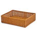籐 かご カゴ 品質良 ラタンバスケット 小物収納 棚 整理 籠 送料無料 かごのお店ラッセル 4003