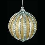 クリスマス装飾 9cmゴールドダイヤモンドアンティークボール ツリー[TOBA6175]