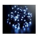 ショッピングクリスマス 耐水100球広角型ネオLEDホワイトライト/ブラックコード常点灯 コネクター付き