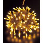 ショッピングクリスマス 耐水100球広角型ネオLEDシャンペーンライト/クリアコード常点灯 コネクター付