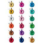 クリスマス 装飾 オーナメント 60mmプレミアシャイニーボール 一体成型 ワイヤー付き 6個入り PABA6877