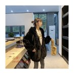 韓国ファッションもこもこボリュームファー コート もふもふ暖かいボリュームファーコート ゆったりする カジュアル 毛皮コート