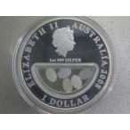 1749/オーストラリア・DOLLARS銀貨2008年proof オパール
