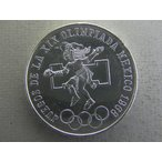 479.3/メキシコ・五輪記念25ペソ銀貨1968年 ジャンピング