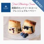 フレッシュブルーベリースコーン2個セット 冷凍便 大粒ブルーベリー・ブルーベリーとレモン 夏季限定 英国式カントリープレーン 英国菓子と紅茶リョウシンドウ