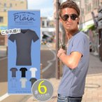 ショッピングシンプル シンプル Tシャツ メンズ 半袖 無地 M L LL カジュアル ちょいワル お兄系 きれいめ 大人
