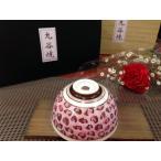 母の日父の日ギフト カーネーション&九谷焼ご飯茶碗*ヒョウ柄(ピンク)