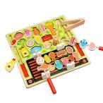 知育玩具 おままごと ごっこ遊び 木製 食べ物 調理ごっこ クッキングセット 学習 2歳 3歳 4歳 5歳 6歳 7歳 赤ちゃん ベビー 幼