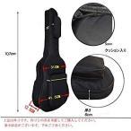 ギターケース アコースティックギター リュック フォークギター クッション性あり 防水 ギグバッグ 手提げ 2Way ギターソフトケース ポ