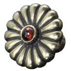 龍頭 菊ピンズ ガーネット 真鍮 ブラス 菊紋 菊十六紋 バッジ 和柄 日本