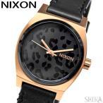 NIXON ニクソン   MEDIUM TIME TELLER LE A11723003ブラック アニマルパターン レディース レザー 時計 腕時計