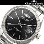 シャルルホーゲル/Charles Vogele メンズ 時計 CV9071-3/ブラック×シルバー