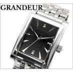 グランドール メンズ 腕時計スクエア/ブラック【GSX049W2】