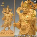 ショッピング仏像 金彩毘沙門天 高さ11.5cm 柘植 木彫り 小仏像