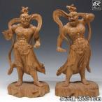 木彫り 仏像 仁王像 金剛力士像 高さ31cm 欅製