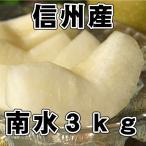 信州 梨(ナシ)信州産 南水梨 3kg(7玉〜10玉)送料無料