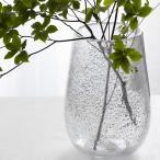 HenryDean ヘンリーディーン ストロンボリS シルバー ガラス花瓶 花器