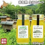 はちみつ 非加熱 国産 生蜂蜜 初夏 盛夏 350g×2 純粋 ハチミツ 北海道 大沼ガロハーブガーデン 送料無料