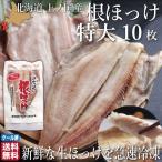 ほっけ 北海道 開き 特大サイズ 10尾 魚 生冷凍 通販 国産 上ノ国 根ほっけ ホッケ 脂 肉厚 干物ではなく生を急速冷凍 送料無料 お中元