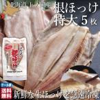 敬老の日 ほっけ 北海道 開き 特大サイズ 5尾 魚 生冷凍 通販 国産 上ノ国 根ほっけ ホッケ 脂 肉厚 干物ではなく生を急速冷凍 送料無料 敬老の日