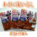 竹田食品(北海道函館) いか明太 250g×3袋  (塩辛・塩から)