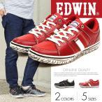 EDWIN ローカット スニーカー メンズ 人気 レッド 黒 カジュアル靴 カジュアルシューズ メンズ ED-7137