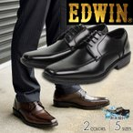 ショッピングアップシューズ EDWIN ビジネスシューズ メンズ 防水 防滑ソール レースアップ シューズ 黒 3e 通勤用 紳士靴 歩きやすい オフィス 仕事 EDW-7731