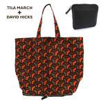 TILA MARCH ティラマーチ TM31BJCSHO 折り畳み可能 幾何学柄 トートバッグ エコバッグ ショッピングバッグ  サイズ/ カラー100/レッド系 20520
