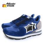 Atlantic STARS アトランティックスターズ メンズ ANTARES NN 81B スウェードコンビ ローカットスニーカー アンタレス カラーブルー系 34560