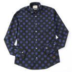 SCOTCH&SODA スコッチ&ソーダ 127079 1504-08 長袖シャツ カジュアルシャツ 柄シャツ ドット ボタンダウン カラーC/ブラック×ネイビー メンズ