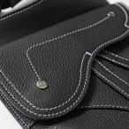 Dior Homme ディオールオム 1ADPO091YKK H00N レザー フラット ショルダーバッグ ポシェット ジャガードロゴ Noir メンズ