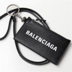 BALENCIAGA バレンシアガ 594548 1IZI3 1IZ43 レザー コイン&カードケース ネックストラップ付き フラグメントケース 1090/BLACK/L-WHITE メンズ